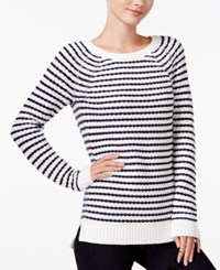 Maison Jules Striped Raglan Sweater Only At Macy's Blu Notte Combo