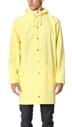 Rains Long Jacket Wax Yellow