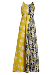 Carl Kapp Tropical Floral Print Gown Yellow Multi