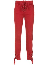 Spacenk Nk Fitted Jeans Red