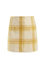 Alexachung Checked Wool Blend Mini Skirt White Print