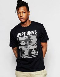 Aape By A Bathing Ape Theme T Shirt Black