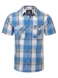 Tog 24 Altus Check Short Sleeve Shirt Blue