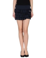 Duck Farm Mini Skirts Dark Blue