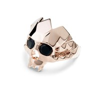 Kasun Vampire Skull Ring Rose Gold