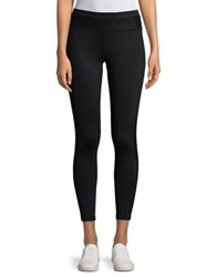 Ivanka Trump Lace Band Leggings Black