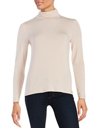 Calvin Klein Turtleneck Knit Top Blush