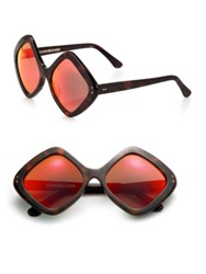 Cutler And Gross 58Mm Diamond Sunglasses Dark Turtle