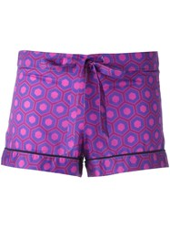 Otis Batterbee Printed Pyjama Shorts Pink Purple
