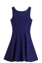 Azzedine Alaia Boatneck Dress Purple