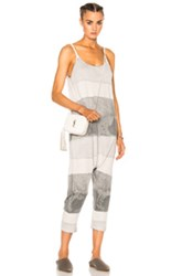 Raquel Allegra Drop Rise Romper In Gray Ombre And Tie Dye Gray Ombre And Tie Dye