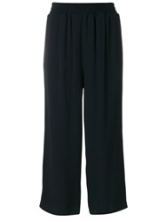 I'm Isola Marras Tailored Cropped Trousers Women Acetate Viscose 44 Black