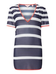 Ted Baker Parasol Stripe Cover Up Navy