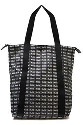 Mcq By Alexander Mcqueen Woman Leather Trimmed Printed Shell Tote Black