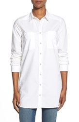 Women's Caslon Cotton Tunic Shirt White