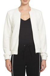 1.State Quilted Bomber Jacket White