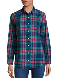 Vineyard Vines Snowflake Plaid Shirt Deep Bay Multi