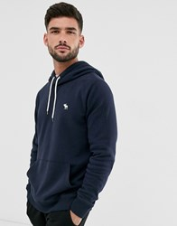Abercrombie And Fitch Icon Logo Hoodie In Navy