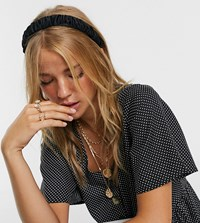 Accessorize Exclusive Ruched Headband In Black Satin