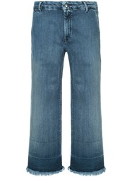 The Seafarer Cropped Jeans Cotton Spandex Elastane Blue