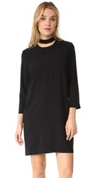 And B Mock Cutout Neck Dress Black