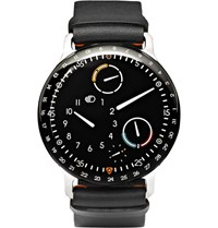 Ressence Type 3 Titanium And Leather Watch Black