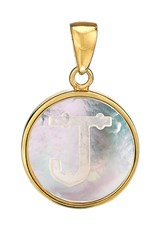 Asha Women's Mother Of Pearl Initial Charm J