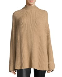 The Row Angel Oversized Mock Neck Sweater Brown