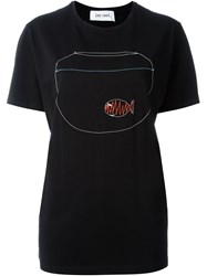 Jimi Roos Embroidered Fish Bowl T Shirt Black