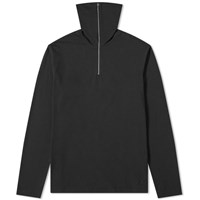 Jil Sander Long Sleeve Quarter Zip Tee Black
