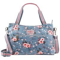 Cath Kidston Zipped Bloomsbury Bouquet Bag Slate Blue