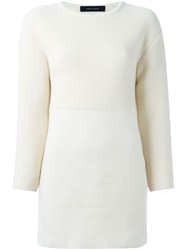 Cedric Charlier Cedric Charlier Ribbed Sweater Nude And Neutrals