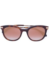 Carolina Herrera Mirrored Lense Sunglasses Brown