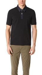Fred Perry Denim Neck Pique Shirt Black