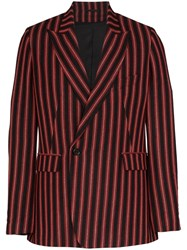 Ann Demeulemeester Striped Double Breasted Blazer 60
