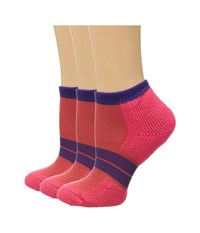 Thorlos 84 N Runner Micro Mini 3 Pair Pack Diva Pink Electric Purple Women's Low Cut Socks Shoes