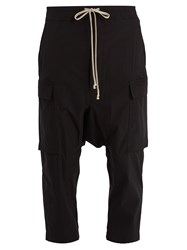 Rick Owens Lightweight Draped Drawstring Trousers Black