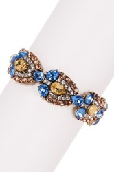 Olivia Welles Amara Crystal Bracelet Brown
