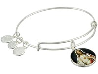 Alex And Ani Holy Ones Sacred Heart Of Jesus Shiny Silver Bracelet Metallic