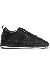 Mcq By Alexander Mcqueen Leather Espadrille Sneakers Black