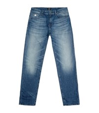 Boss Straight Light Wash Jeans Male Blue