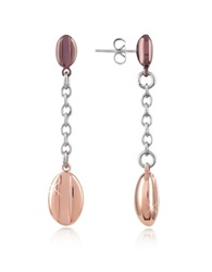 Zoppini Coffee Collection Stainless Steel Drop Earrings