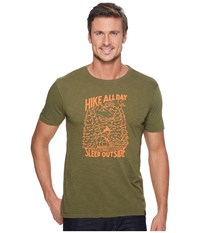 United By Blue Short Sleeve Hike All Day Forest Men's Clothing Green