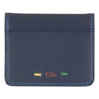 Tula Violet Leather Small Card Holder Navy