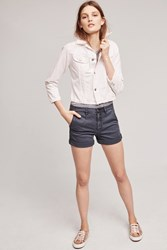 Anthropologie Relaxed Chino Shorts Navy