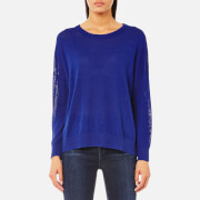 Samsoe And Samsoe Women's Kassy O Neck Jumper Surf The Web Blue