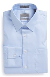 Men's John W. Nordstrom Traditional Fit Non Iron Houndstooth Dress Shirt Blue Placid