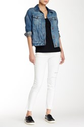 Jolt Slit Knee Skinny Jean Juniors White
