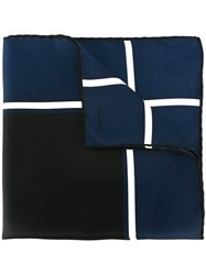 Tom Ford Square Scarf Men Silk One Size Blue