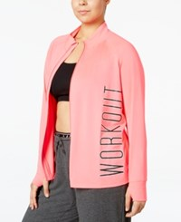 Material Girl Active Plus Size Shine Workout Jacket Only At Macy's Flashmode